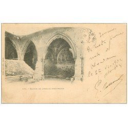 carte postale ancienne 74 ABONDANCE. Abbaye Cloître 1902