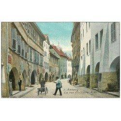 carte postale ancienne 74 ANNECY. La Rue Sainte-Claire 1923