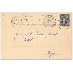 carte postale ancienne 14 CAEN. Rare Carte Pionnière 1899. Eglise Saint-Pierre 1899