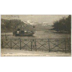 carte postale ancienne 74 ANNECY. Lac et Tournette 1920