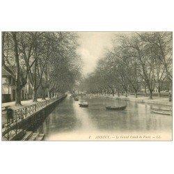 carte postale ancienne 74 ANNECY. Le Grand Canal du Vassé