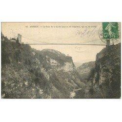 carte postale ancienne 74 ANNECY. Le Pont de la Caille 1912