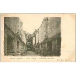 carte postale ancienne 02 FERE-EN-TARDENOIS. Galerie Ancien Château 1902