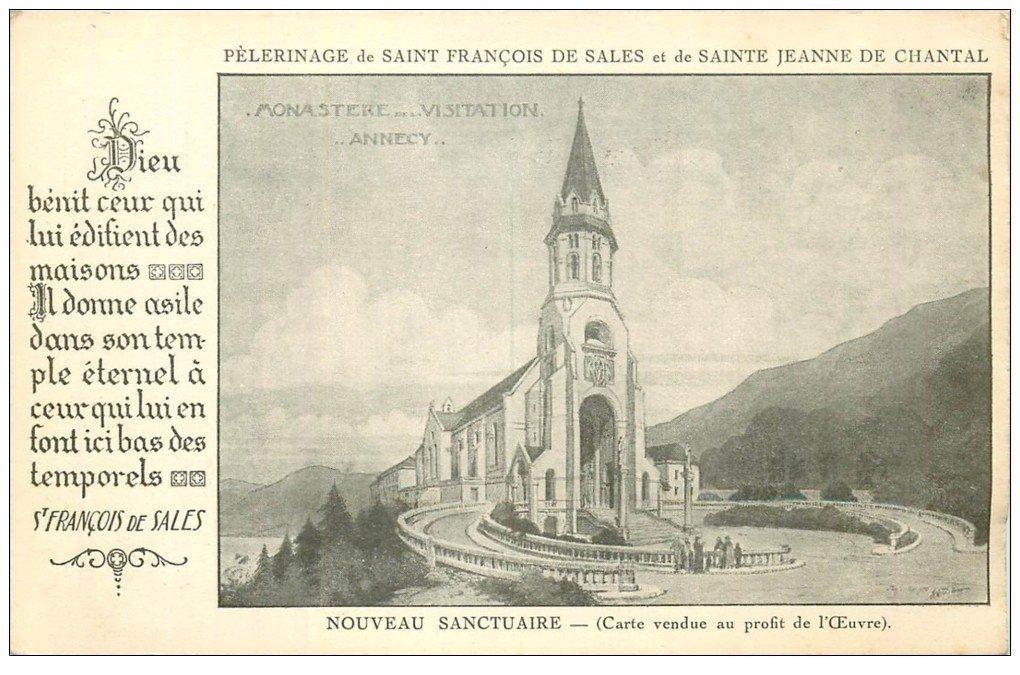 carte postale ancienne 74 ANNECY. Monastère Visitation Sanctuaire