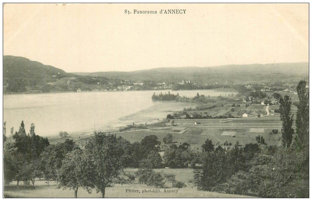 carte postale ancienne 74 ANNECY. Panorama