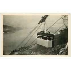 carte postale ancienne 74 ANNECY. Téléphérique de Veyrier du Lac. Carte Photo