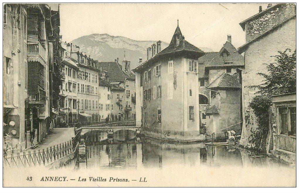 carte postale ancienne 74 ANNECY. Vieilles Prisons