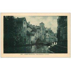 carte postale ancienne 74 ANNECY. Vieux Quartiers. Le Thiou