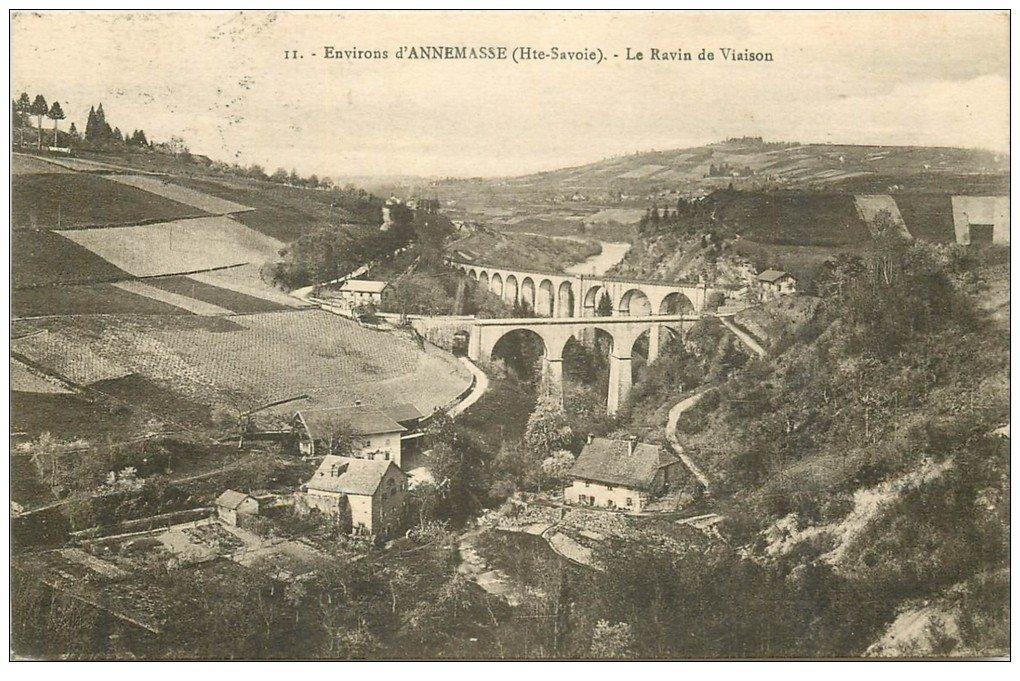 carte postale ancienne 74 ANNEMASSE. Le Ravin de Viaison