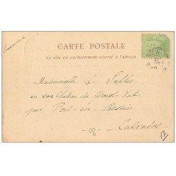 carte postale ancienne 14 CAEN. Rare Carte Pionnière 1900. Vue prise de l'Abbaye aux Dames 1900