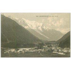 carte postale ancienne 74 ARGENTIERE. Village et Mont Blanc n° 1922