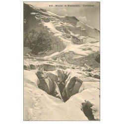 carte postale ancienne 74 BIONNASSAY. Glacier et Crevasses
