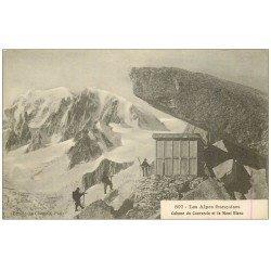 carte postale ancienne 74 CABANE DU COUVERCLE Et le Mont Blanc Alpinistes