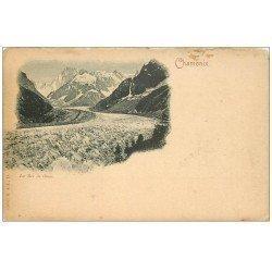 carte postale ancienne 74 CHAMONIX. La Mer de Glace vers 1900