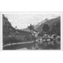 carte postale ancienne 74 CHAMONIX. Lac Gaillands Aiguilles Dru