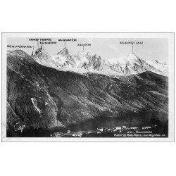 carte postale ancienne 74 CHAMONIX. Massif Mont Blanc. Carte Photo