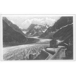 carte postale ancienne 74 CHAMONIX. Mer de Glace Montenvers