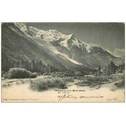 carte postale ancienne 74 CHAMONIX. Mont Blanc 1902