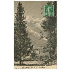 carte postale ancienne 74 CHAMONIX. Mont Blanc 1913 n°7052