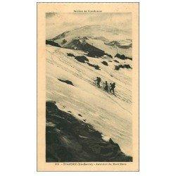 carte postale ancienne 74 CHAMONIX. Mont Blanc 1931. Alpinisme et Ascension