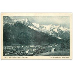 carte postale ancienne 74 CHAMONIX. Mont Blanc 1948