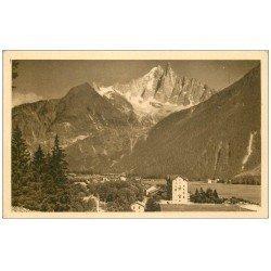 carte postale ancienne 74 CHAMONIX. Praz Dru Aiguille Verte