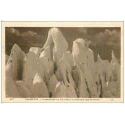carte postale ancienne 74 CHAMONIX. Pyramide Plateau Bossons