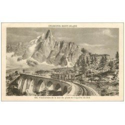 carte postale ancienne 74 CHAMONIX-MONT-BLANC. Funiculaire Mer de Glace vers 1932