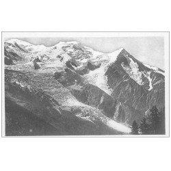 carte postale ancienne 74 CHAMONIX-MONT-BLANC. La Chaîne depuis Brévent