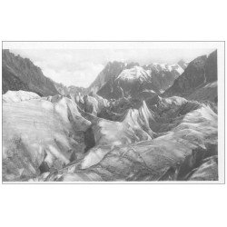 carte postale ancienne 74 CHAMONIX-MONT-BLANC. Les Séracs Mer de Glace