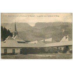 carte postale ancienne 74 CHARTREUSE-DU-REPOSOIR. Grand Hôtel, Eglise et le Bargy