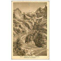 carte postale ancienne 74 CIRQUE DU FER A CHEVAL. La Combe 1946