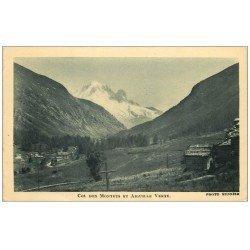 carte postale ancienne 74 COL DES MONTETS ET AIGUILLE VERTE 1929