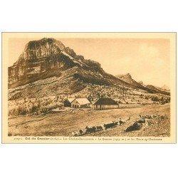 carte postale ancienne 74 COL DU GRANIER. Les Châlets Restaurants et Monts de Chartreuse