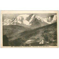 carte postale ancienne 74 COMBLOUX. Le Mont Blanc 1933