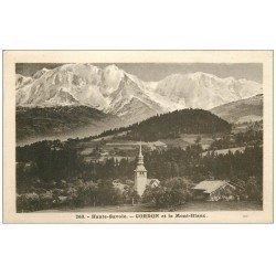 carte postale ancienne 74 CORDON. Village 1932