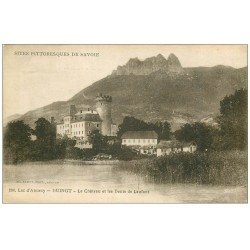 carte postale ancienne 74 DUINGT. Château et Dent de Lanfont