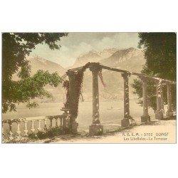 carte postale ancienne 74 DUINGT. Terrasse les Libellules colorisée