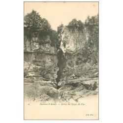 carte postale ancienne 74 ENTREE DES GORGES DU FIER