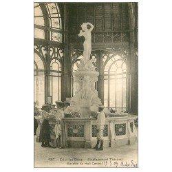 carte postale ancienne 74 EVIAN-LES-BAINS. Buvette Etablissement Thermal 1907