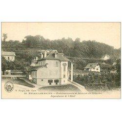 74 EVIAN-LES-BAINS. Dépendances de l'Hôtel Source Chatelet. Carte Publicitaire BRUYER 2 rue Saint-Denis Paris II°