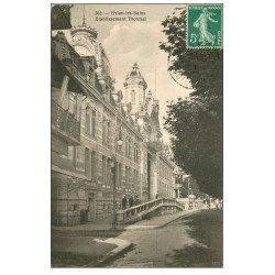 carte postale ancienne 74 EVIAN-LES-BAINS. Etablissement Thermal 1911