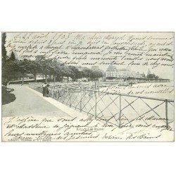 carte postale ancienne 74 EVIAN-LES-BAINS. La Jetée 1903