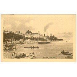 carte postale ancienne 74 EVIAN-LES-BAINS. Le Port. Collection Source Cachat