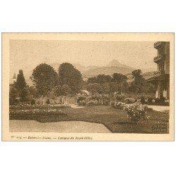 carte postale ancienne 74 EVIAN-LES-BAINS. Terrasse Royal-Hôtel. Collection Source Cachat