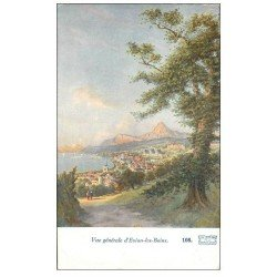 carte postale ancienne 74 EVIAN-LES-BAINS. Vue générale. Collection Cachat