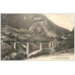 carte postale ancienne 74 HAUTE-SAVOIE. Viaduc du Fort de l'Ecluse