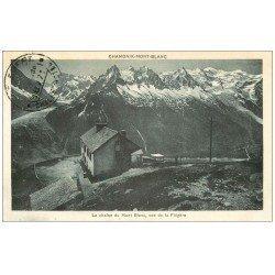 carte postale ancienne 74 LA CHAÎNE DU MONT-BLANC. Chalet Hôtel vue de la Flégère