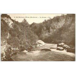 carte postale ancienne 74 LA DRANSE 1939 vers Evian
