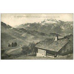 carte postale ancienne 74 LA TOURNELLE. Col de la Croix de Fry 1919